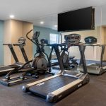 fitness center with cardio machines at Clarion Hotel Auburn-Kent-Seattle